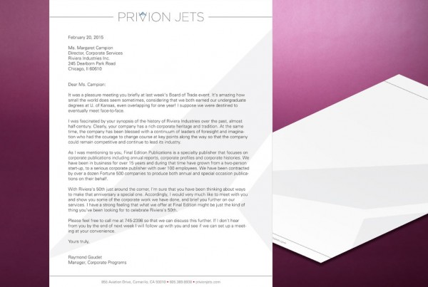 Privion Jets Letterhead